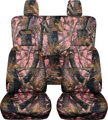 amazon com 2011 2017 jeep wrangler jk camo seat covers pink real