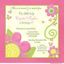 butterfly flower birthday invitation polka dotted butterflies
