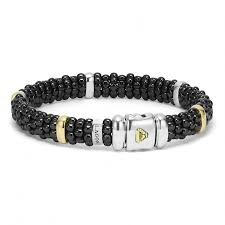 beaded black bracelet images Beaded bracelet with gold black white caviar lagos jewelry jpg