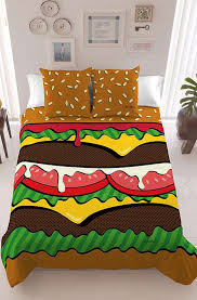 themed bed sheets fast food inspired bed sheets burger bedding