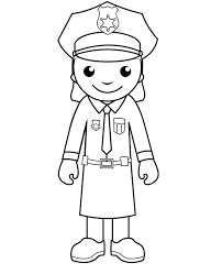 printable police woman coloring pages police coloring pages