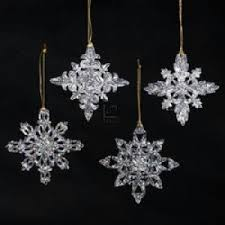 kurt adler acrylic snowflake ornament set of 12 home
