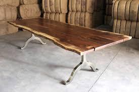 Coffee Table Wood Edge Wood Coffee Table Wood Slab Tables Edge