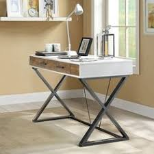 Compact Modern Desk Justine Single Drawer Corner Desk 48 W Drawers Desks And
