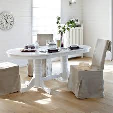 table ovale avec rallonge table ovale à allonge palmyre blanc anniversaire 40 ans