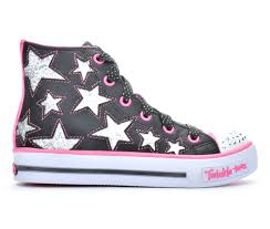 light up sneakers girls skechers shuffle rocking stars 10 5 4 light up sneakers