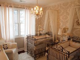 White Nursery Chandelier Bedroom Luxurious Chandelier For Baby Nursery Above White Crib And