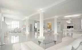 Floor And Table L Set Luxury Modern White House Square With Sleek Fiberglass Coffee