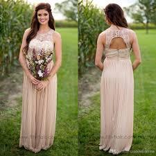 2017 country style chiffon maternity long bridesmaid dresses sheer