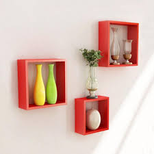 compact wall shelf decorative brackets set of wooden hexagon wall
