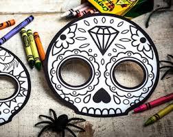 sugar skull mask etsy