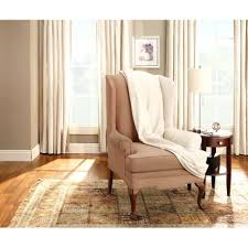 T Cushion Sofa Slipcover 2 Piece by Wingback Chair Dsc 0494 Futuristicrecliner Wing Slipcovers Canada