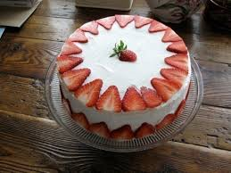 strawberry tres leches cake a fruit cake baking on cut out keep