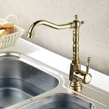 Gold Kitchen Sink Gold Chrome Finish Kitchen Faucet