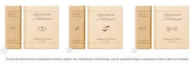 hochzeitsgeschenk spardose personalisiertes sparbuch zur hochzeit mit namen des brautpaars