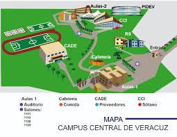Mexico Volcano Map by Study In Mexico Campus Central De Veracruz Campus Map