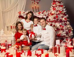 family christmas christmas family portrait celebrating present gifts