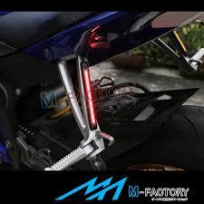 18cm rear footpegs brake indicator led strip light for fz6n yzf r1
