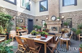 outdoor courtyard multifunctional contemporary outdoor courtyard with stone veneer