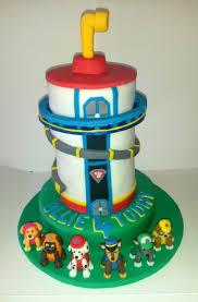 paw patrol lookout cake birthday 4 paw patrol