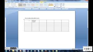 how to make a data table in word youtube