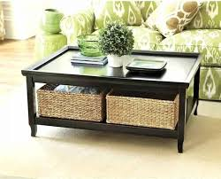 Oak Console Table With Drawers Tables With Baskets White Stained Wooden Console Table With Two