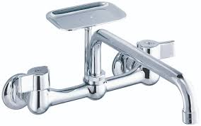 gerber classics two handle wall mount kitchen faucet gerber