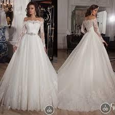 wedding dresses fluffy vestido de noiva longa a line country style boat neck