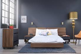 amazon com nexera 345431 alibi full size platform bed walnut
