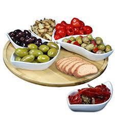 unique serving platters elama signature modern lazy susan appetizer and