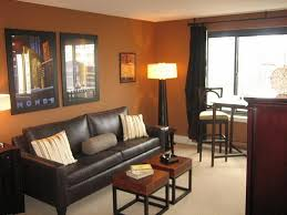 living room cool design of libing room with orange colored wall