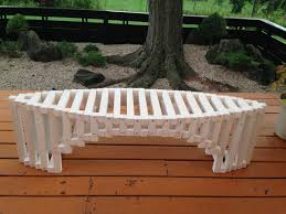 bridge arch coffee table bench wood bench architect design