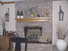 fireplace simple how to paint brick fireplace white design ideas