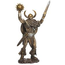 tyr norse god of war bronze resin statue derek w frost statue