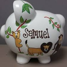 Monogrammed Piggy Bank Personalized Piggy Banks 44 Photos Arts U0026 Crafts 720