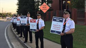 Seeking Pilot Delta Pilots Seeking 37 Raise Picket Headquarters
