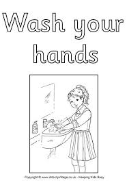 Hand Washing Coloring Sheet - wash your hand colouring poster