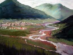 landscape painting in pastels chapter six mountains