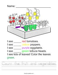count the fruit and vegetables worksheet twisty noodle