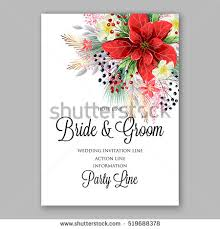 wedding invitation greetings poinsettia wedding invitation sle card stock vector