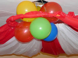Balloon Ceiling Decor A Circus Birthday Party Part One Decorations Celebrate Every