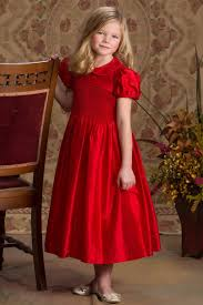 red christmas dresses for smocked silk portrait flower dress