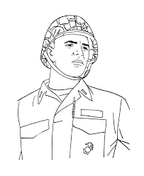 bluebonkers armed forces day coloring page sheets marine officer