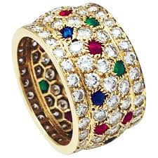 gold rings stones images Yellow gold cartier ring nigeria collection diamonds and colored jpg
