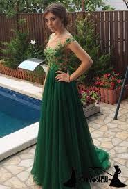 glamorous long champagne lace prom dresses party evening gown
