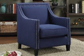 Blue Accent Chair Erica Blue Accent Chair Mor Furniture For Less
