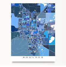 Cu Campus Map Boulder Map Usa Colorado Black White By Main Street Maps Crated