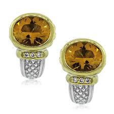 judith ripka earrings judith ripka two tone citrine and diamond earrings boca raton