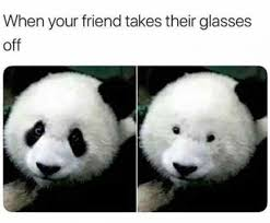 Glasses Off Meme - when your friend takes their glasses off meme xyz
