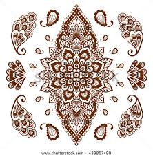 mehendi ornament collection indian henna stock vector